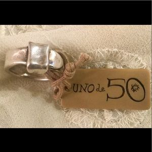 Unique UNO DE 50 Size 6 Belt Buckle Ring❤️NWT
